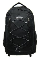"Case of [24] 18"" Classic Bungee Backpacks - Black"