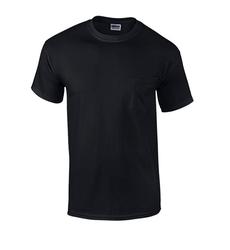 Case of [12] Black Irregular Gildan Pocket T-shirts - Medium