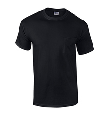 Case of [12] Black Irregular Gildan Pocket T-shirts - XL