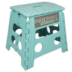 Case of [10] Farberware Aqua Foldable Stepstool