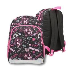 """Case of [24] 16"""" Classic Print Backpack - Girl Power"""