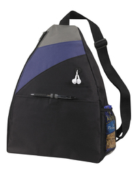 """Case of [50] 17"""" Classic Large Sling Backpack - Navy Blue"""