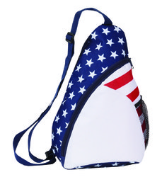 "Case of [50] 15"" Classic Patriotic Sling Backpack"