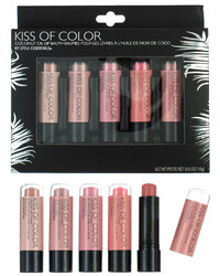 Case of [48] Style Essentials Kiss Of Color Collection Lip Balm - 5 Balms