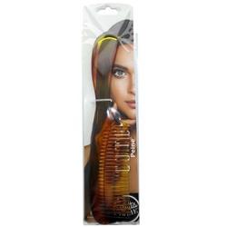 Case of [144] Bonita Home Brown Handle Comb