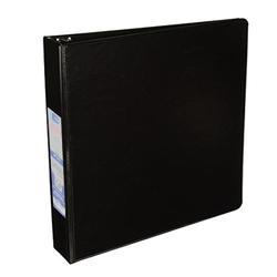 """Case of [24] E-Clips 1.5"""" 3-ring Binder - Black, 2 Pockets"""