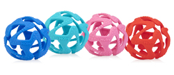 Case of [24] Assorted Nuby Tuggy Teether Ball