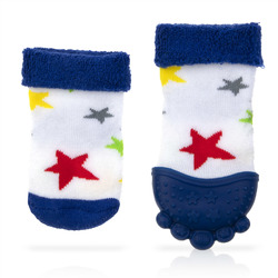 Case of [16] Blue Stars Nuby Soothing Teether Sock
