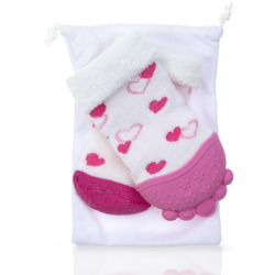Case of [16] Pink Hearts Nuby Soothing Teether Sock