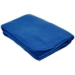 "Case of [20] TrailWorthy Fleece Blanket & Storage Bag 45"" x 60"" - Blue"