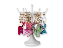 Case of [24] Dazzler Bling Assorted Bag Charm/Keychain