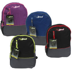 """Case of [24] 16"""" Prosport Classic Single Compartment Backpack - 4 Assorted Colors"""