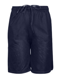 Case of [12] Youth Gym Mesh Shorts - Navy - XL