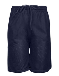 Case of [12] Adult Gym Mesh Shorts - Navy - L