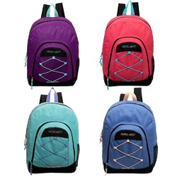 """Case of [24] 18"""" Classic Bungee Backpack - 4 Assorted Color"""