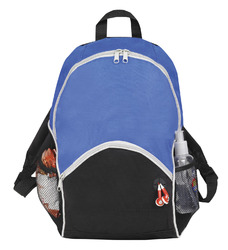 "Case of [25] 16"" Classic Blue Backpack - 2 Side Mesh Pockets"