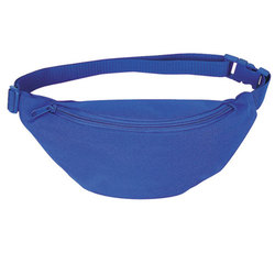 Case of [72] Polyester One Pocket Fanny Pack - Royal