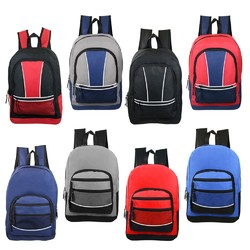 "Case of [24] 17"" Classic Sport Backpacks - 8 Assorted Styles"