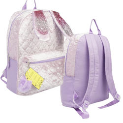 """Case of [20] 16"""" Large Purple Bunny Backpack"""