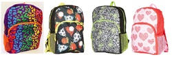 """Case of [24] 15"""" Character Backpacks - 4 Assorted Characters"""