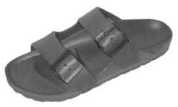 Case of [12] Men's Buckle EVA Sandal - Grey