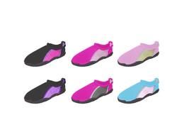 Case of [36] Toddler Girl's Drawstring Aqua Shoe - Assorted