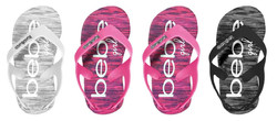 Case of [36] Toddler Girl's Space Dye EVA Sandals - Assorted