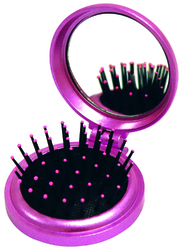 Case of [48] Just For Mom Compact Hair Brush & Mirror