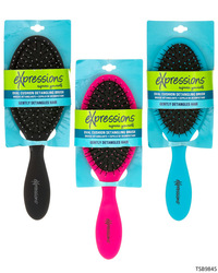 Case of [48] Expressions Oval Cushion Detangling Brush - Assorted Colors