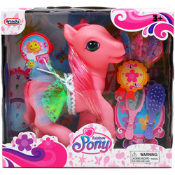 """Case of [12] 8.25"""" Rainbow Pony - Assorted Colors"""