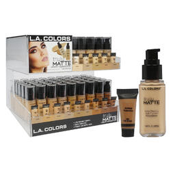 Case of [126] L.A. Colors Truly Matte Liquid Foundation - 14 Shades