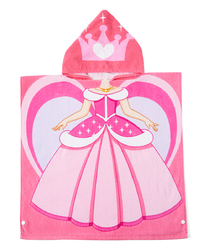 Category: Dropship Baby, SKU #2344628, Title: Case of [24] Toddler Girls' Hooded Pool Towel Poncho - Princess, 2T-5T
