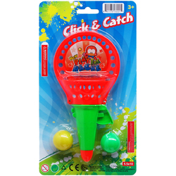 """Case of [72] 7.25"""" Click and Catch Ball Game - Assorted"""