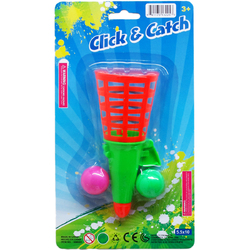 """Case of [72] 5.5"""" Click and Catch Ball Game - Assorted"""