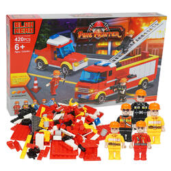 Case of [6] 420 Piece Fire Fighter Building Playset