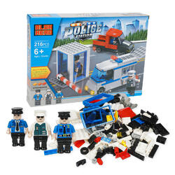 Case of [12] 216 Police Station Building Playset