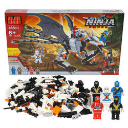 Case of [6] 466 Piece Ninja Squad Building Playset