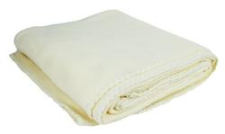"""Case of [12] Polar Fleece Throws - 50"""" x 60"""" - Deluxe Weight - Cream"""