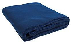 """Case of [12] Polar Fleece Throws - 50"""" x 60"""" - Deluxe Weight - Navy Blue"""