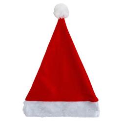 "Case of [36] 17"" Red Santa Felt Hat with Plush Cuff"