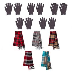 Case of [96] 96 Pack Winter Gloves and Scarves