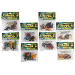 Case of [48] Animal World Assorted Animal Figures - 6 Pack