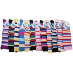 Case of [24] Knee High Striped Socks - Size 9-11