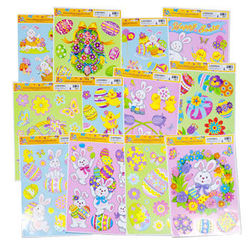 Category: Dropship Party Supplies, SKU #319018, Title: Case of [144] Easter Window Clings