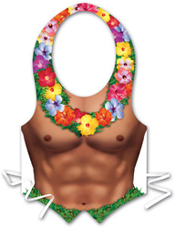 Case of [24] Packaged Plastic Hula Hunk Vest