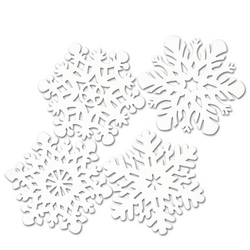 Case of [12] Packaged Snowflake Cutouts