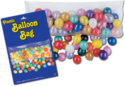 Case of [12] Packaged Plastic Balloon Bag - Bag Only