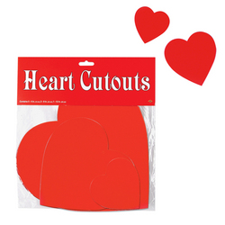 Case of [24] Packaged Printed Heart Cutouts - Printed 2 Sides #66877