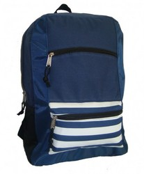 "Case of [40] 18"" Classic Striped Front Backpack - Navy"