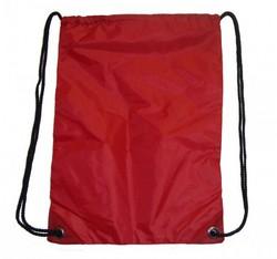 "Case of [100] 19"" Basic Red Drawstring Backpack"